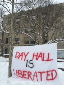 Over 100 students occupied Day Hall for several hours.
