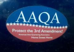 Bumper Sticker American Anti Quartering Association
