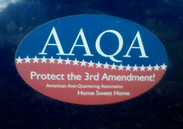 Bumper Sticker American Anti Quartering Association