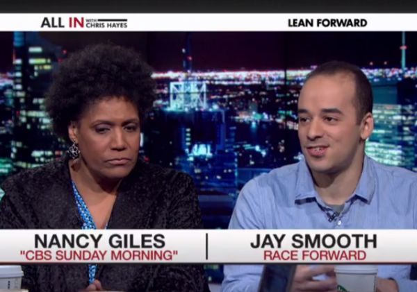 DJ Jay Smooth rap guy im actually black msnbc starbucks race forward nancy giles racism race
