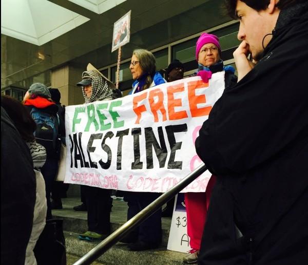 Shut Down AIPAC 2015 Free Free Palestine