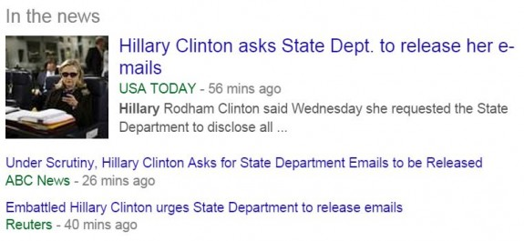 Hillary Emails Release Twitter Headlines