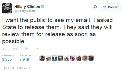 Hillary Tweet See Emails