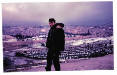 [In the camera that was found at the bombing site was this photo which was taken with the scenery of Jerusalem. This photo was later developed as Leon did not get the chance to see it.]