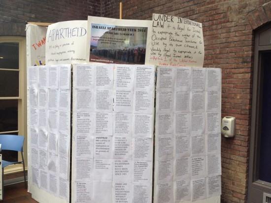 Mock Wall Vassar Israeli Apartheid Week