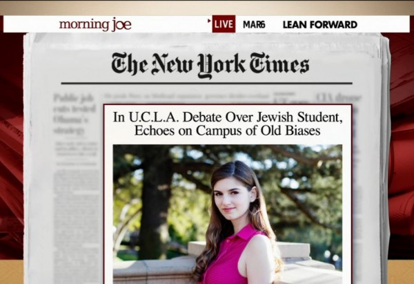 Morning Joe UCLA Jewish Bias Story