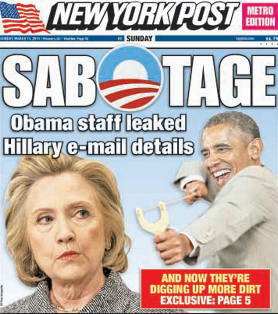 NY Post Cover Obama Hillary Emails