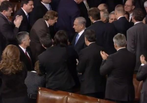 Netanyahu Speech Congress 2015 entering