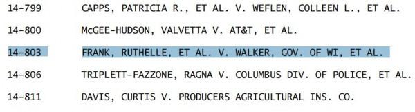 Supreme Court Wisconsin Voter ID Cert Denied