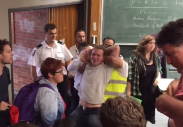 University Sydney BDS protester Richard Kemp