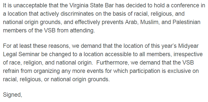 Virginia State Bar Email from 36 Members March 27 2015 2