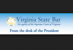 Virginia State Bar President Banner with Border