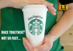 disaster starbucks race together coffee social justice howard schultz baristas talk race