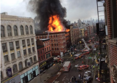 explosion nyc building fire firefighters manhattan