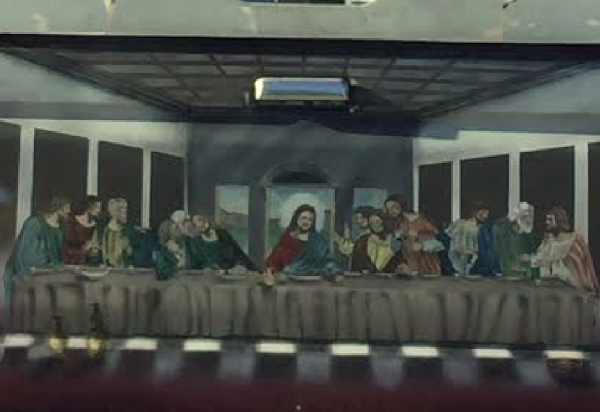 Bumper Sticker - Palmetto FL - Last Supper close up
