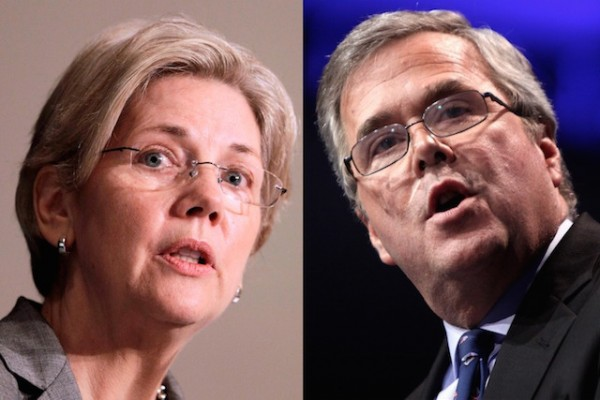 Elizabeth Warren Jeb Bush