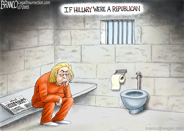 Hillary Jail Time | A.F.Branco | Conservative Cartoon
