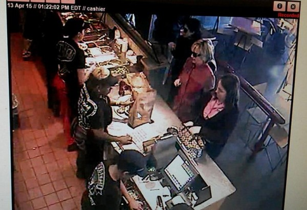 Hillary at Chipotle Security Camera