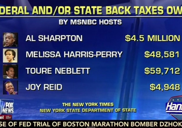 MSNBC Hosts Back Taxes