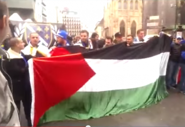 Palestinian Flag Vienna Kill the Jews