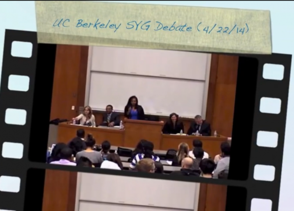 UC Berkeley Stand Your Ground Debate Video opening screencap