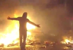 baltimore protests fire