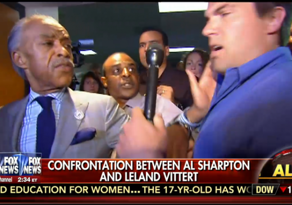 confrontation between al sharpton and fox news reporter leland vittert baltimore riots maryland msnbc