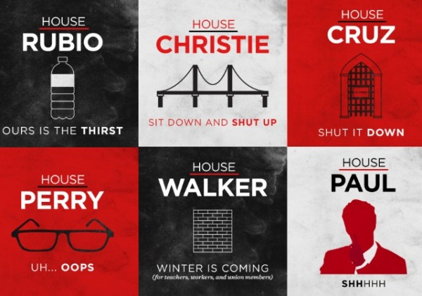 democratic party social media game of thrones rubio racist bottle of water