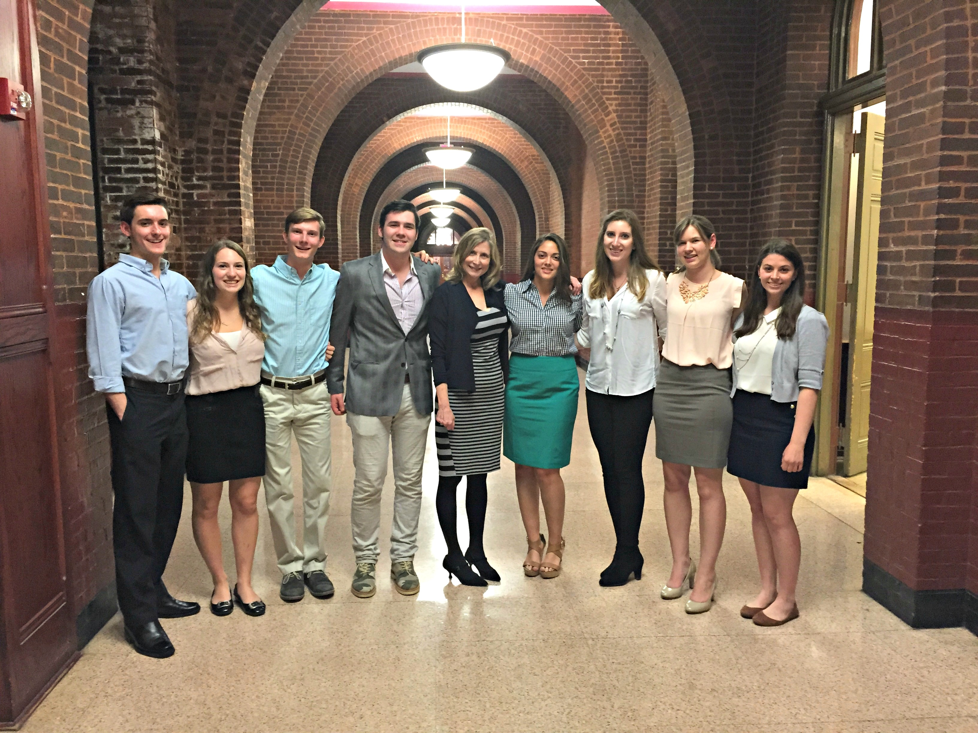 Georgetown CRs with Dr. Sommers after the controversial lecture. Image credit: Clare Boothe Luce Policy Institute
