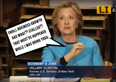 hillary clinton small business growth stalled surprised yoga scandal president 2016