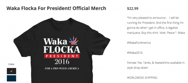 waka flocka flame president t-shirt