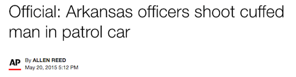Arkansas officers shoot cuffed man