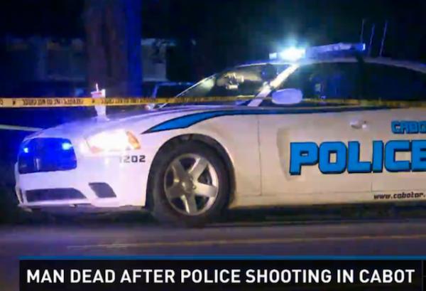 Arkansas police shooting hancuffed suspect