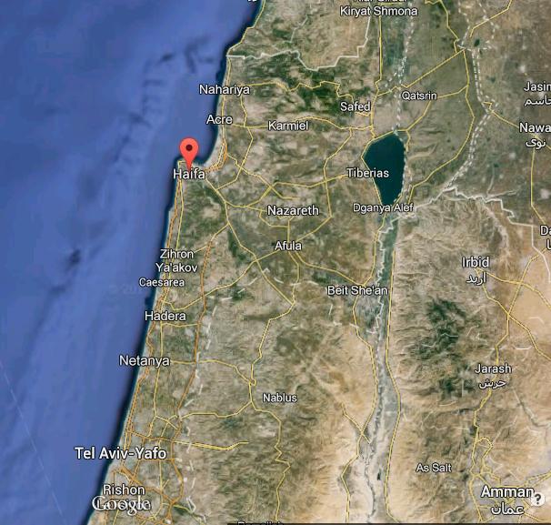 Haifa Country Satellite Map