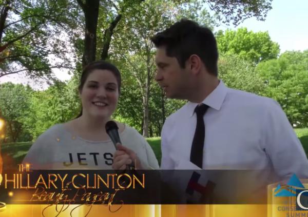 Hillary Clinton Beauty Pageant Caleb Bonham Equal Pay Hillary paid women less