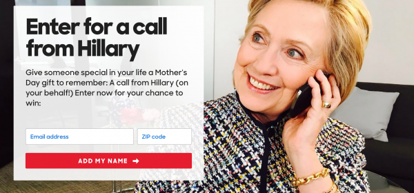 Hillary Clinton mothers day call your mother