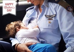 Israel Air Force Mothers Day Photo Pilot Breastfeeding