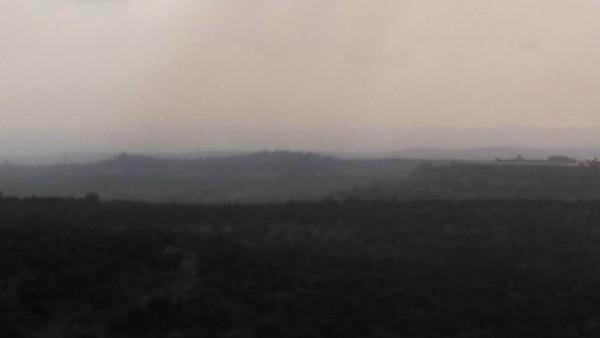 [Israel - Tel Aviv Skyline and Mediterranean Sea from Barkan]