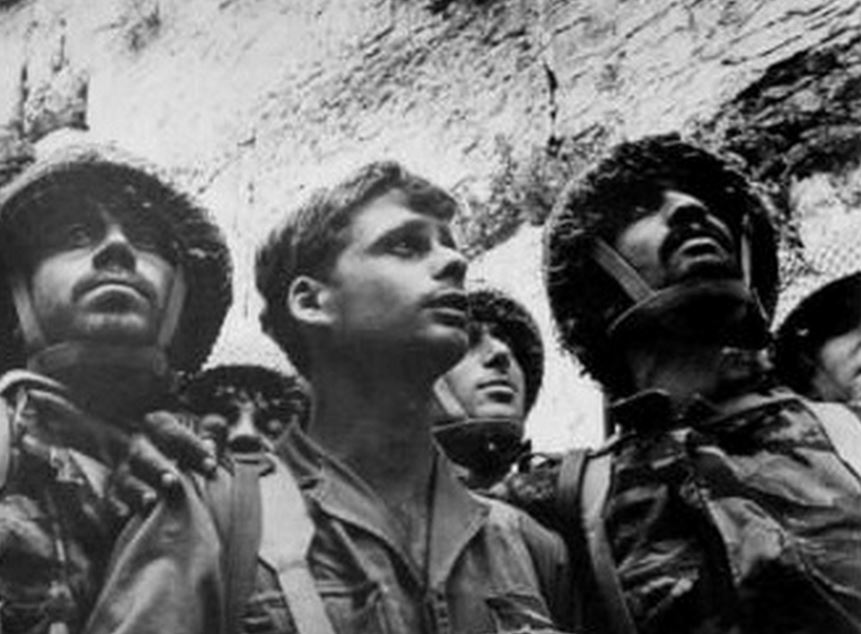 Israeli Paratroopers at Western Wall