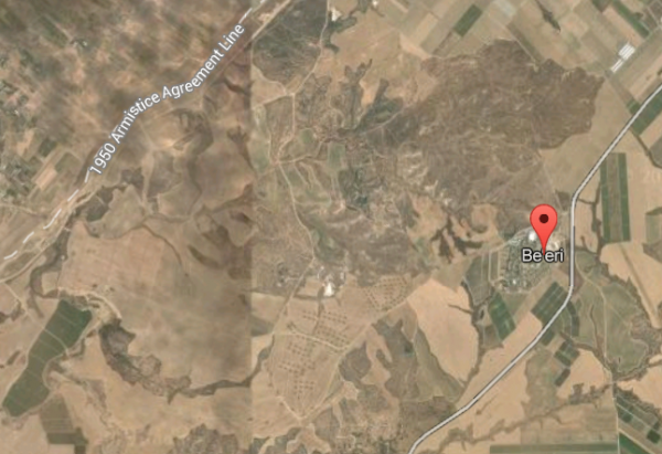 Kibbutz Beeri Satellite Map Gaza