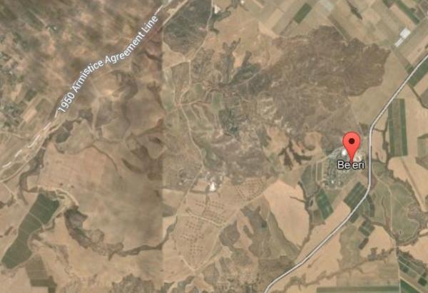 Kibbutz Beeri Satellite Map Gaza