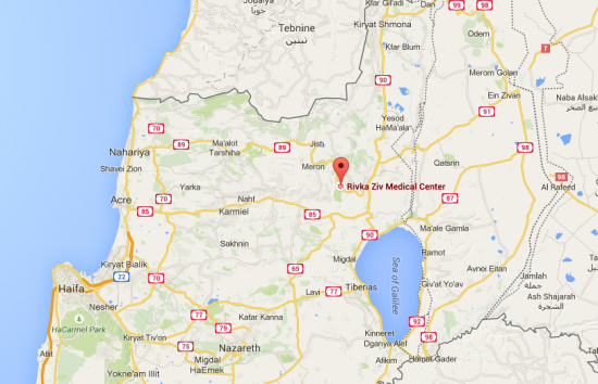 Safed Rivka Ziv Medical Center Regional Map