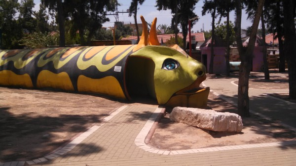 Sderot Israel Children's Playground Bomb Shelter