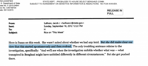 Susan Rice This Week Benghazi Scandal Hillary Clinton Emails