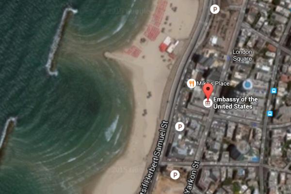 U.S. Embassy Tel Aviv Beach Satellite