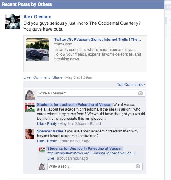 Vassar SJP Facebook Daniel Gleason Screen Shot 2014-05-08 at 3.31.48 PM