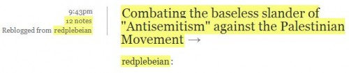 Vassar SJP Tumblr May 7 Baseless Slander Anti-Semiitism