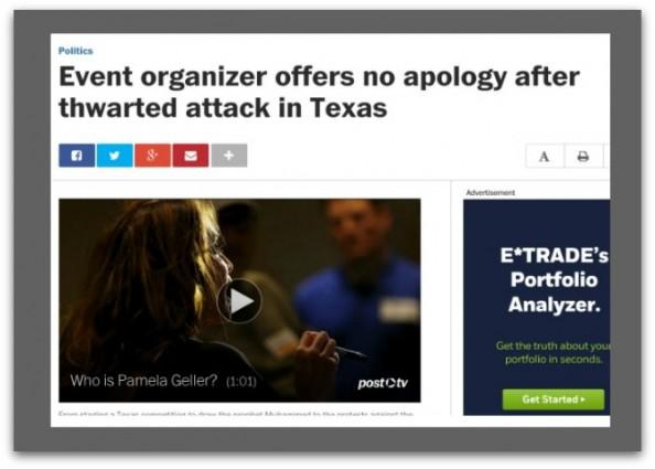 Washington Post free speech media free speech garland attacks radical islam garland shooting pamela geller