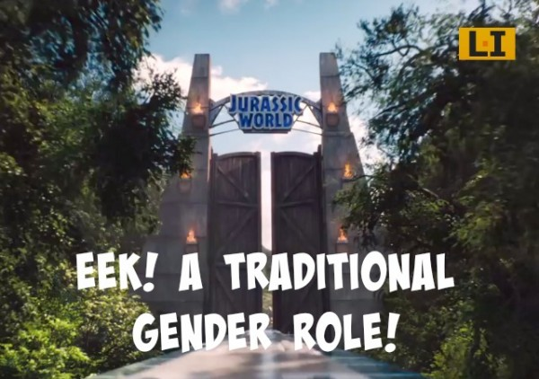 feminists freak out over Jurassic World traditional gender roles