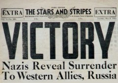 ve day 70th anniversary nazis surrender to western allies russia stars and stripes